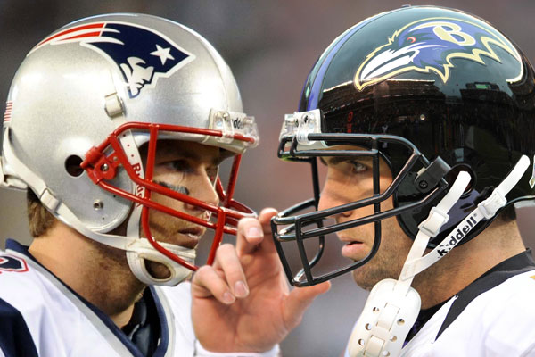 Brady vs Flacco Graphic