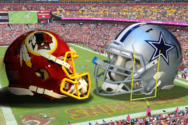 Cowboys vs Redskins Graphic