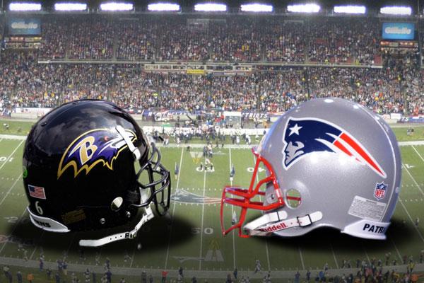 Ravens vs Patriots - Helmets