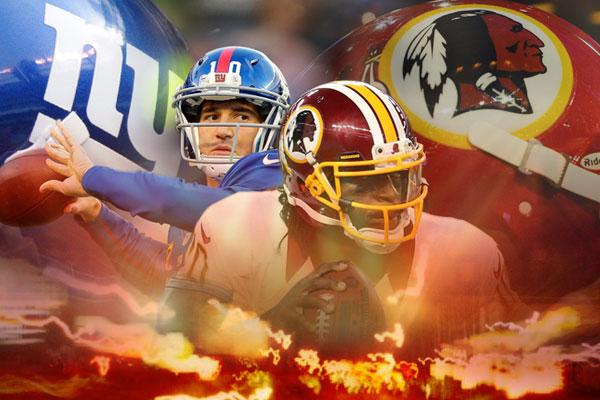 Redskins vs Giants Graphic