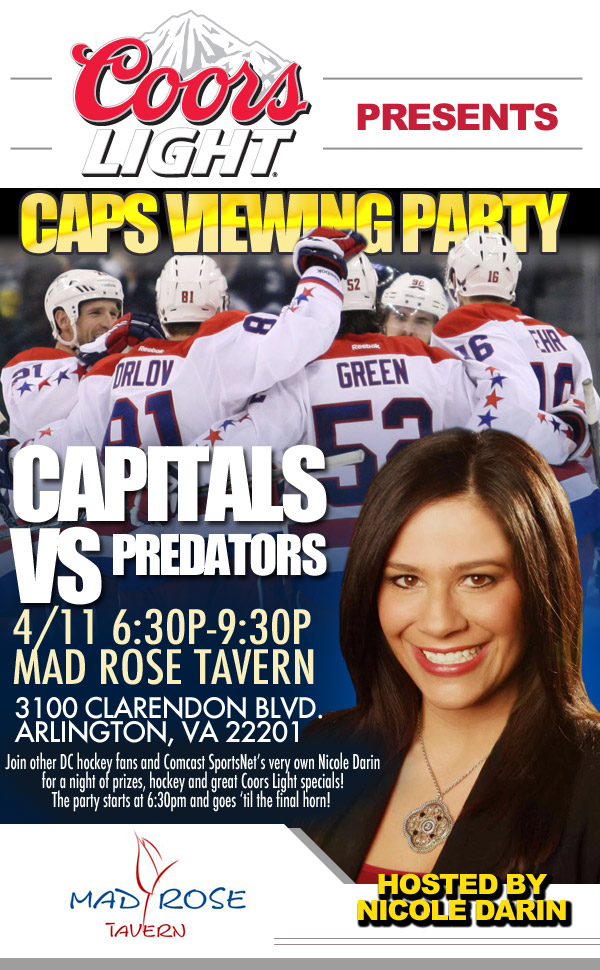 Capitals vs Predators Viewing Party