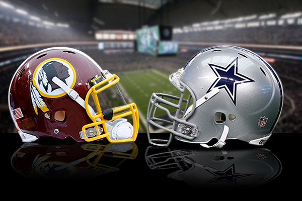Redskins at Cowboys Promotional Graphic