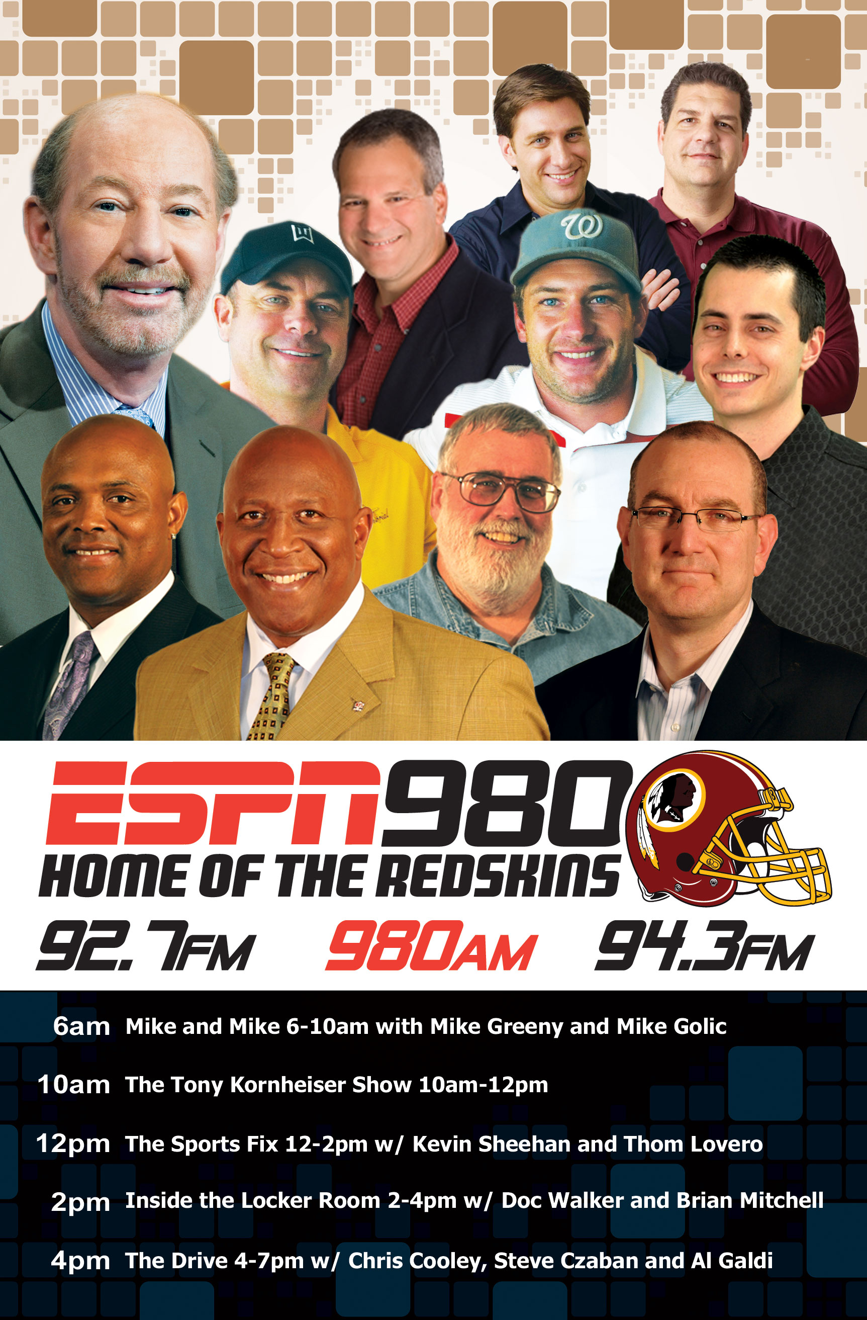 ESPN 980 Lineup Print Piece